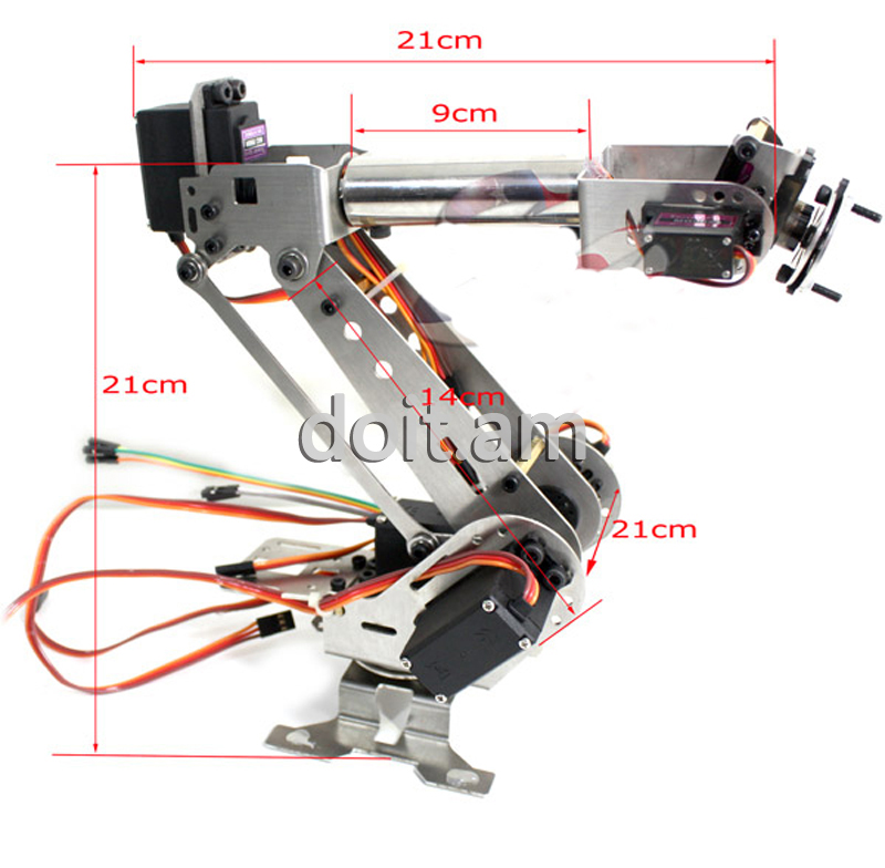 DoArm S6 6 Dof Stainless Steel Metal Robotic Manipulator/ ABB Arm Model