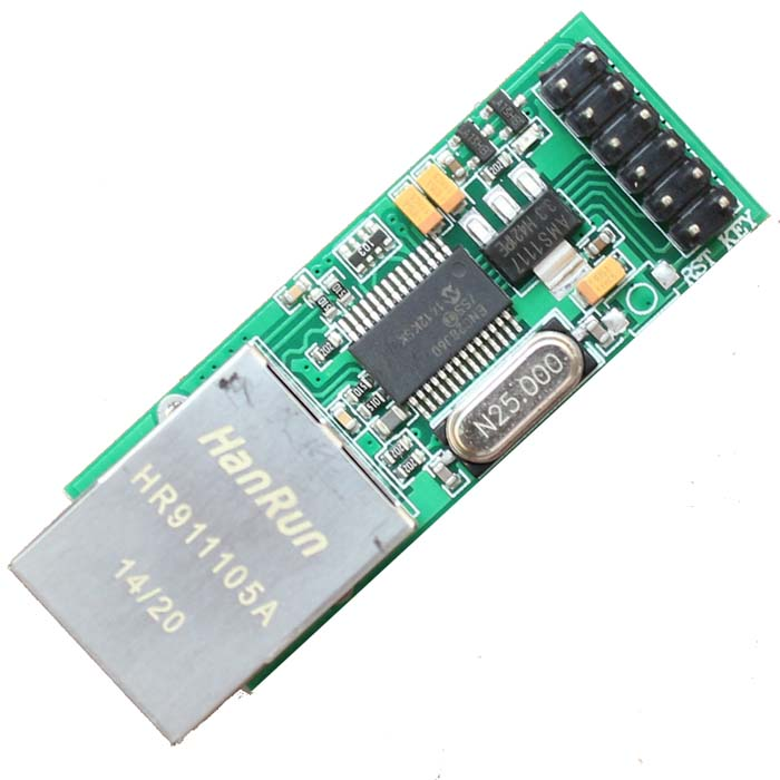 MCU ENC28J60 Ethernet Network Module 5 V 3.3 V Double Power Meter Dupont Line