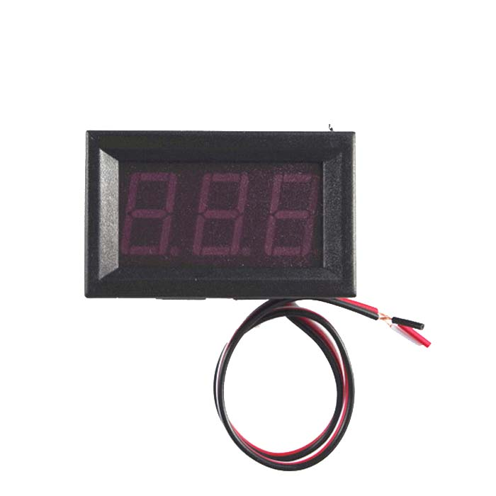 Three line 0.56 inch LED digital voltmeter, DC DC voltmeter 0 V to 30.0 V reverse connect protection