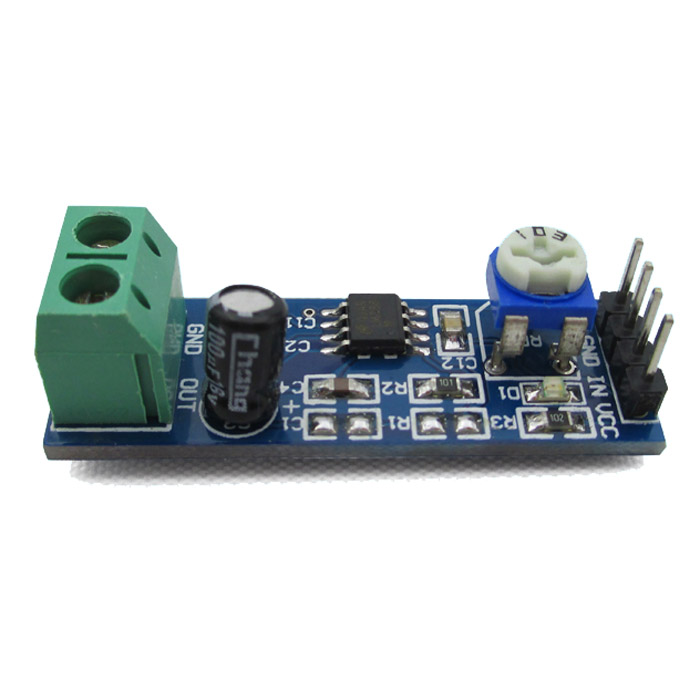LM386 200 times gain audio amplifier module