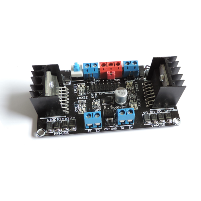 ASLONG L298NS Four DC Motor Driver Template Single-Chip Microcomputer Intelligent Car Driver