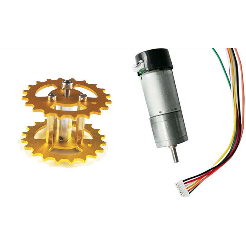 Metal Driving Wheel+phi 4mm Motor for Tank Chassis crawler diy rc toy remote control tracked vehicle car caterpillar track uno