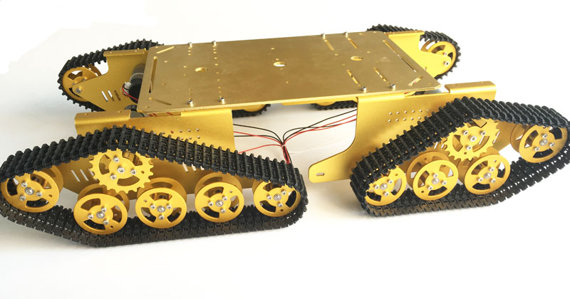 WiFi Video T900 4WD Metal Wall-E Track Tank with HD Camera