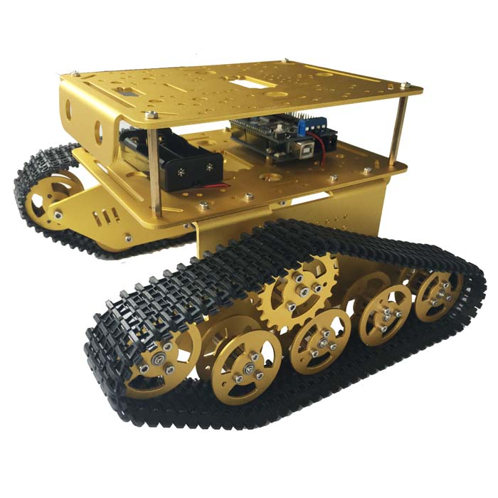 Arduino WiFi Android Apple APP Remote TD300 Double Caterpillar Tank Chassis Intelligent Car