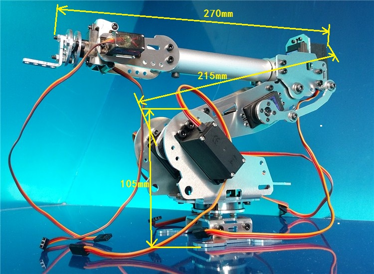 6 DOF Robot  Mechanical Arm Manipulator ABB Industrial Robot Manipulator Model 7 Steering Gear