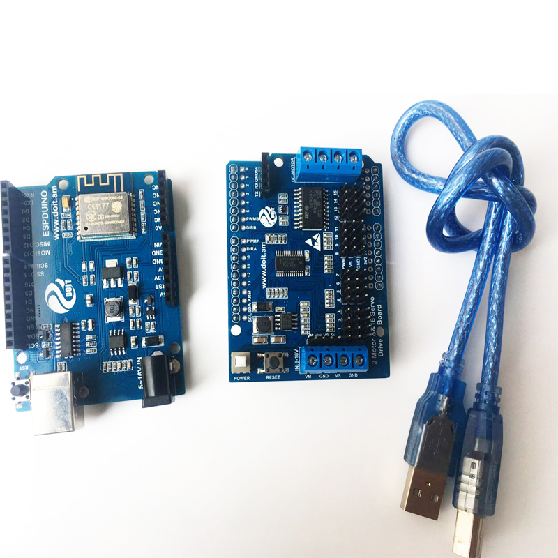 ESPduino Development Board Kit Compatible with WiFi Arduino for Control 2-way Motor & 16-way servo