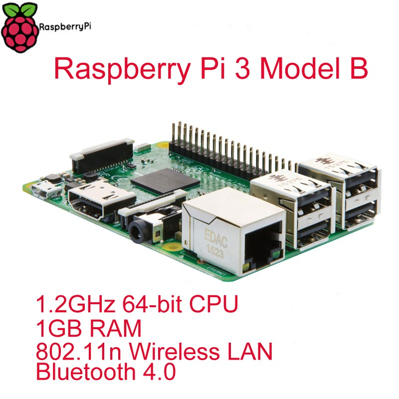 Raspberry Pi 3 Model B RPI 3 with 1GB LPDDR2 BCM2837 Quad-Core Ras PI3 B,PI 3B,PI 3 B with WiFi&Bluetooth