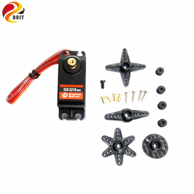 Original DOIT Wholesale DS3218 metal gear Digital Servo High torque 20kg for Airplane or Robot DIY remote car toy