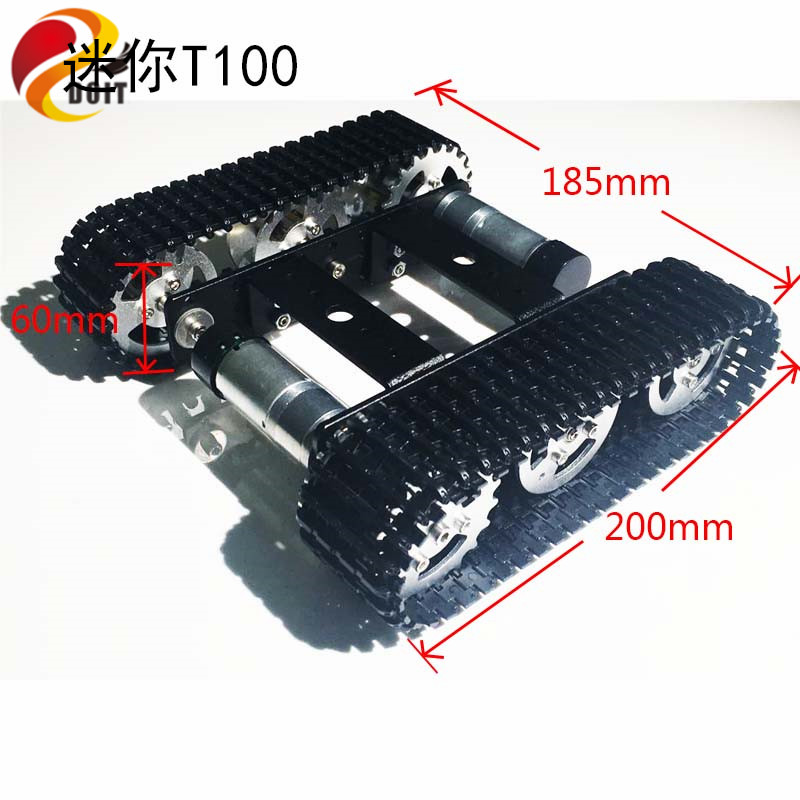 Mini T100 Crawler Tank Car Chassis Tracked Smart Car Robot Competition DIY Robot Toy