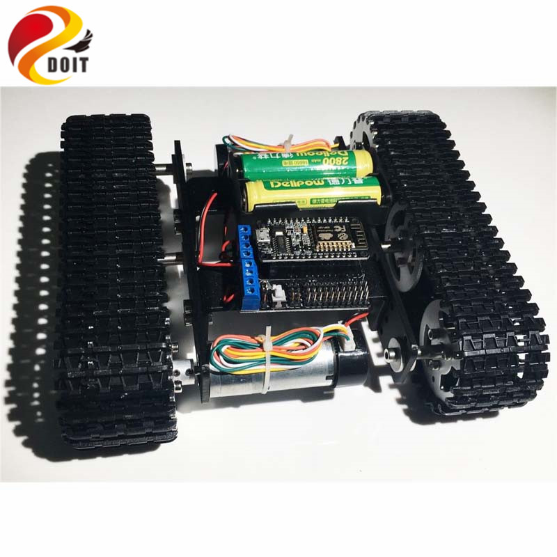 Official DOIT Mini T100 Crawler Tank Car Chassis with Nodemcu Controller Kit Tracked Smart Car Robot Competition DIY Robot Toy