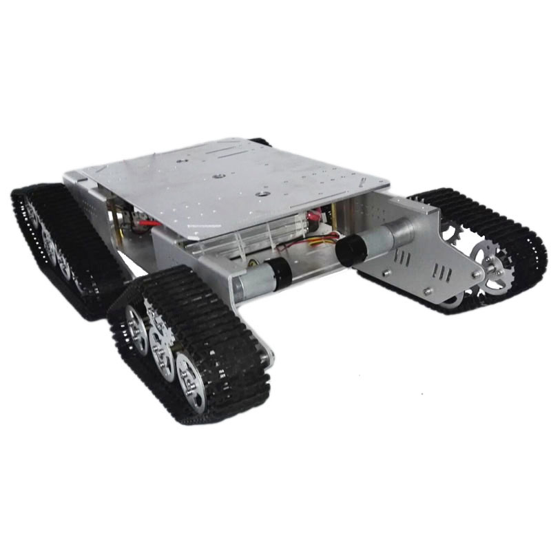Caeser TD900 4WD Tracked Metal Tank Car Chassis Smart Robot Toy