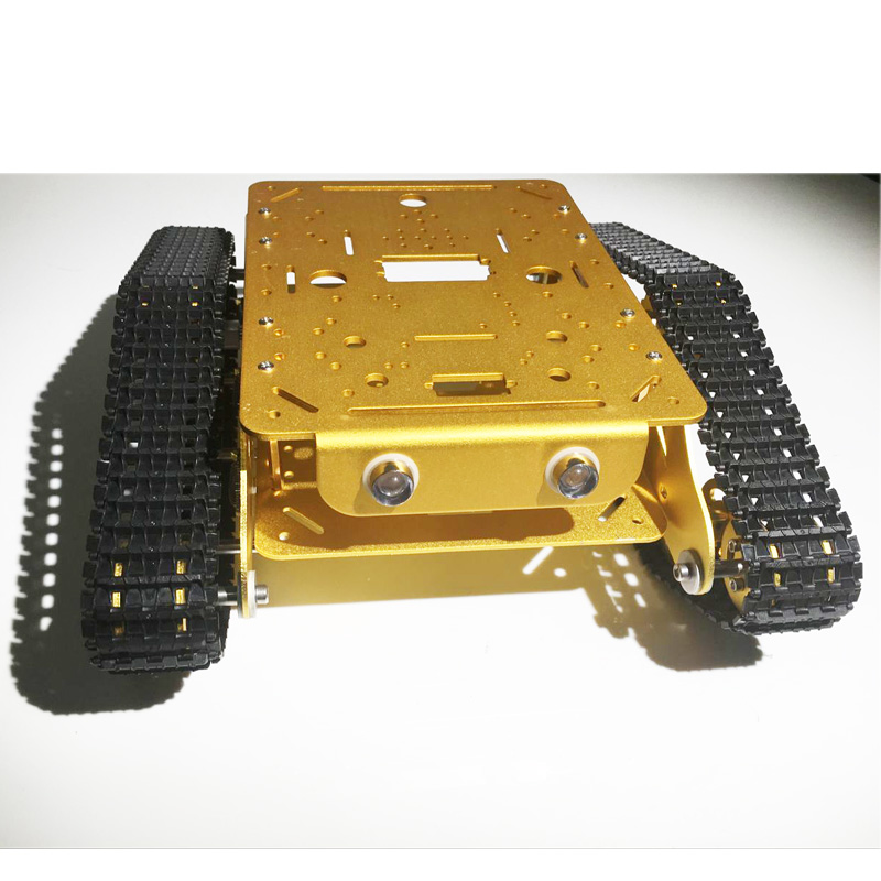 Caeser TD300 4WD Tracked Metal Tank Car Chassis Smart Robot Toy Robotic Competition