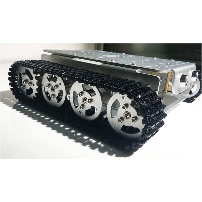 Caeser TD200 4WD Tracked Metal Tank Car Chassis Smart Robot Toy Robotic Competition