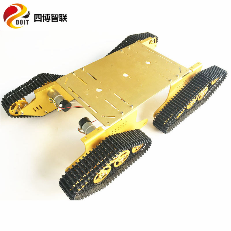 T900 4wd Metal Tank Caterpillar Smart Car Wireless Remote Video Camera Robot Chassis