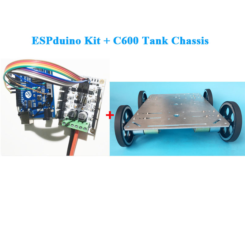 C600 new Enhanced Edition Tank chassis crawler chassis Climbing obstacle for Crawler robot Model Smart Tank with ESpduino