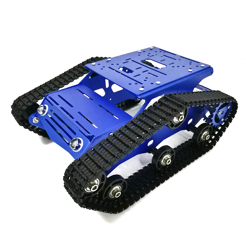 Tracked Robot Chassis YP100 with Aluminum Alloy Frame 12V 320RPM High Power Motor Plastic Tracks for Robot Project Design