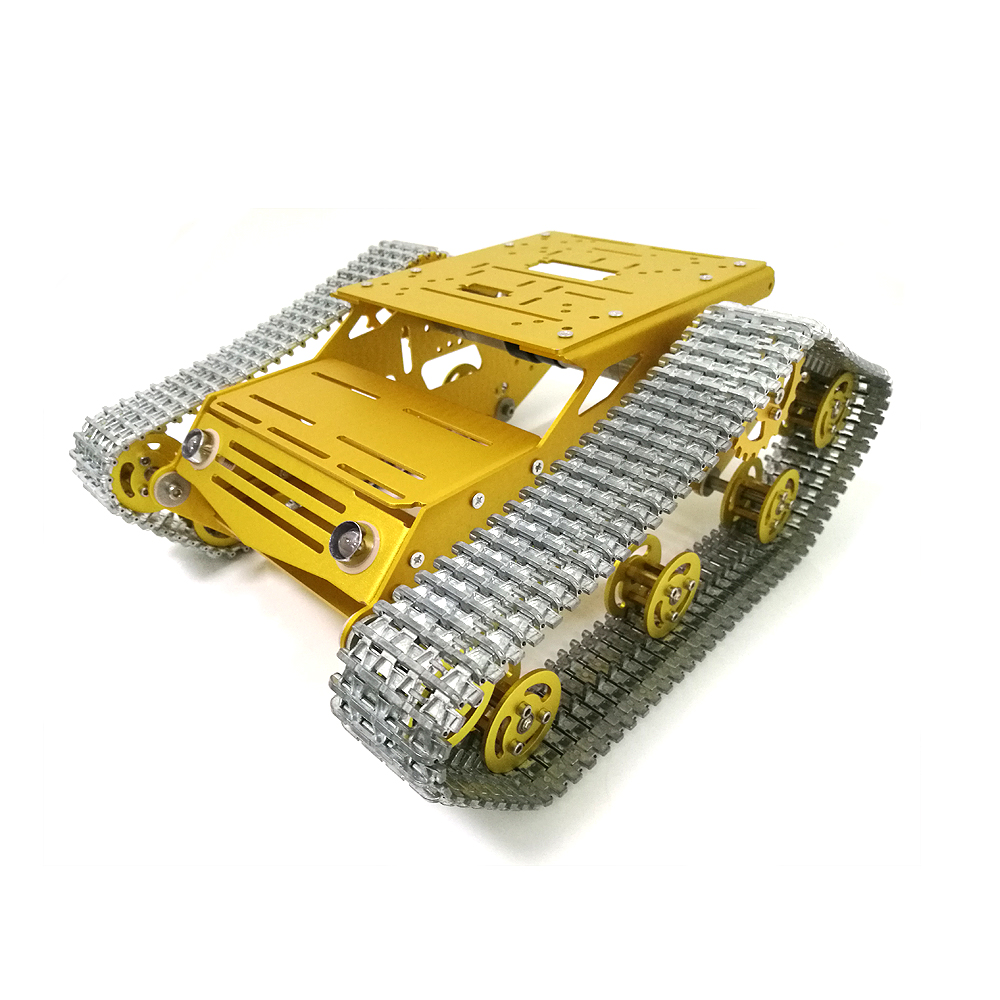 MY100 All Metal Tank Chassis Robot Car Chassis RC Tank Model Tracked Car with DC 9V motor+Metal Tracks+Aluminum Alloy Structure