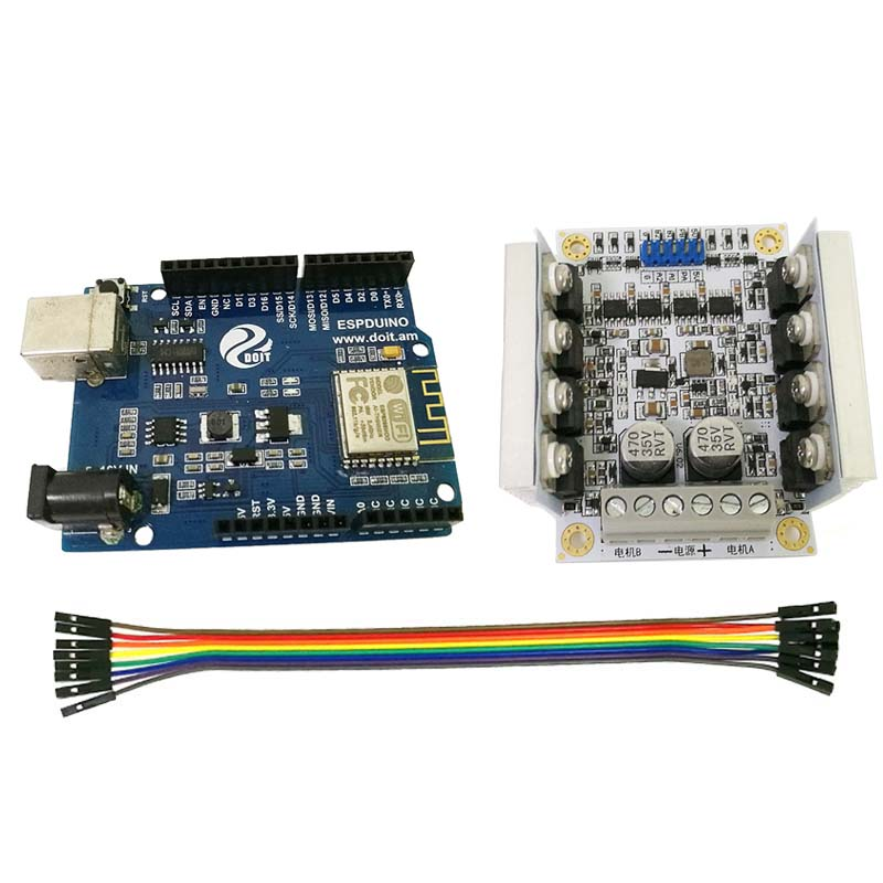 Official DOIT ESPduino Development Board Kit Compatible with WiFi for Arduino for Control 2wd/4wd Robot Tank Car Toy