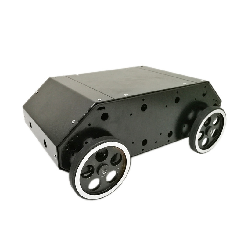 New Style VC-100 4wd Car Chassis with Stainless Steel Frame, 95mm Metal Wheel, 12V High Power Motor for Arduino DIY RC Toy