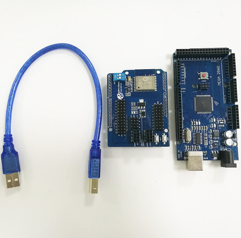 Arduino 2560 + ESP8266 Wireless WiFi Shield
