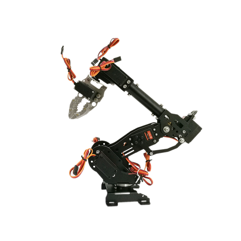 7 DOF Robot Manipulator Metal Alloy Mechanical Arm Clamp Claw Kit MG996R Servos for Arduino Robotic Education