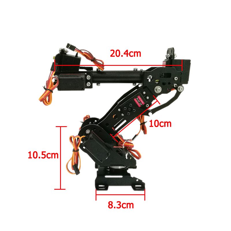 7 Dof Robot Arm Metal Manipullator Mechanical Arm with 7pcs DT-3316 15kg Digital Servos for Arduino Robotic Education