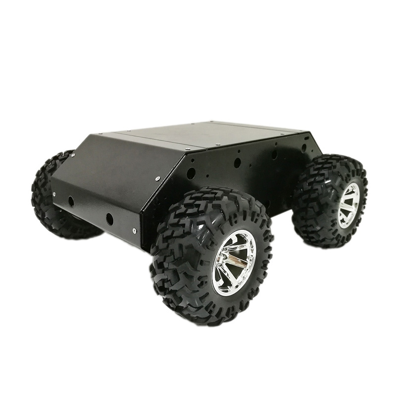 New Style VC-200 4wd Car Chassis with Stainless Steel Frame, 130mm Rubber Wheel, 12V High Power Motor for Arduino Robot Rroject