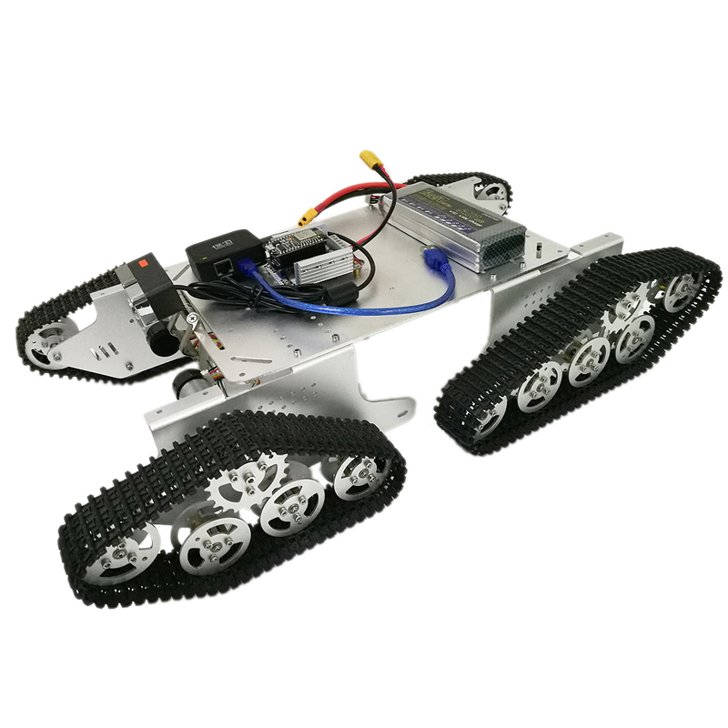 T900 4WD Metal Wall-E Tracked Tank with HD Camera, Nodemcu Development Board, Big Power Driver Board, Openwrt Router