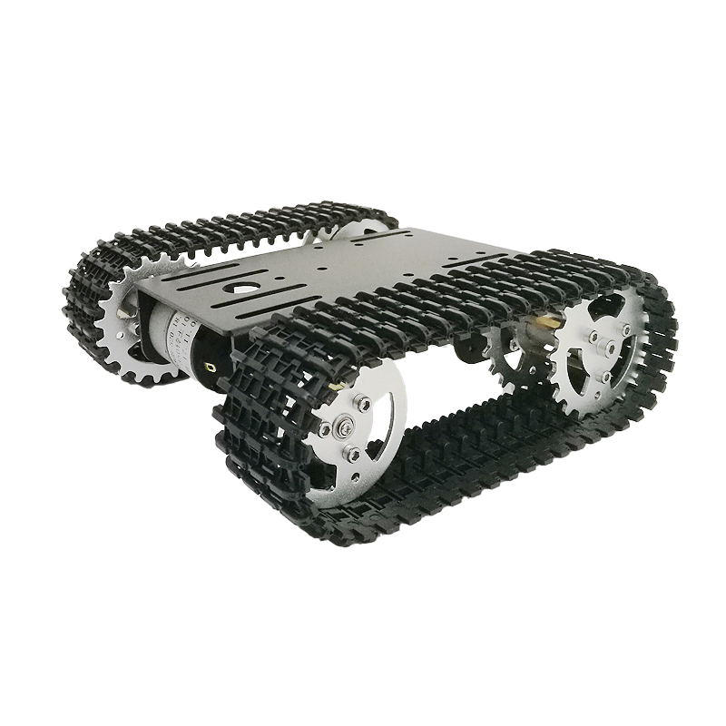 Mini T101 Smart Robot Tank Chassis Tracked Car Platform with 33GB-520 Motor for DIY Robot Graduation