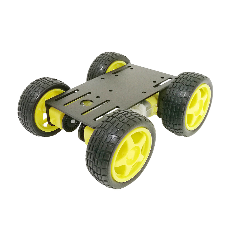 4WD Smart Robot Car Kit with 4pcs TT motor, 65mm Rubber Wheel, 2mm Aluminum Chassis for DIY Robot Graduation Project