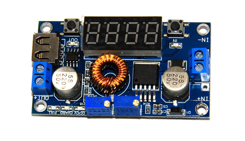 5A 75W high power DC-DC YS-05 adjustable buck module with voltage meter display