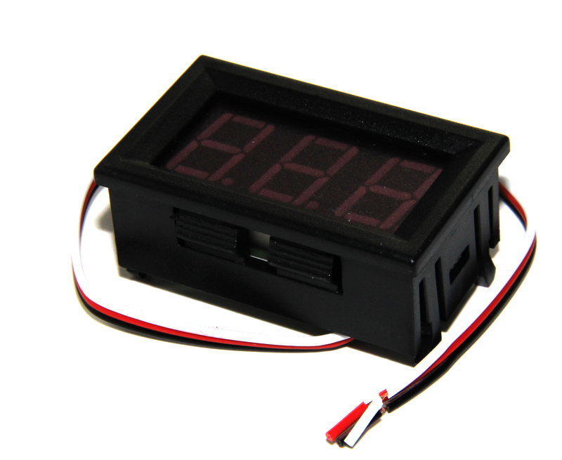 Three wire DC voltage meter 0.56 inch LED digital voltage meter DC 0V-30.0V reverse connection protection