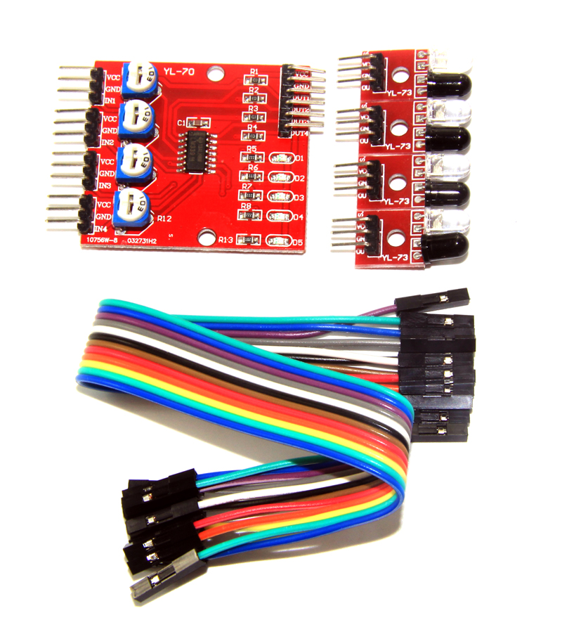 The 4 infrared tracing / tracking module / line / module / car / robot obstacle avoidance sensor