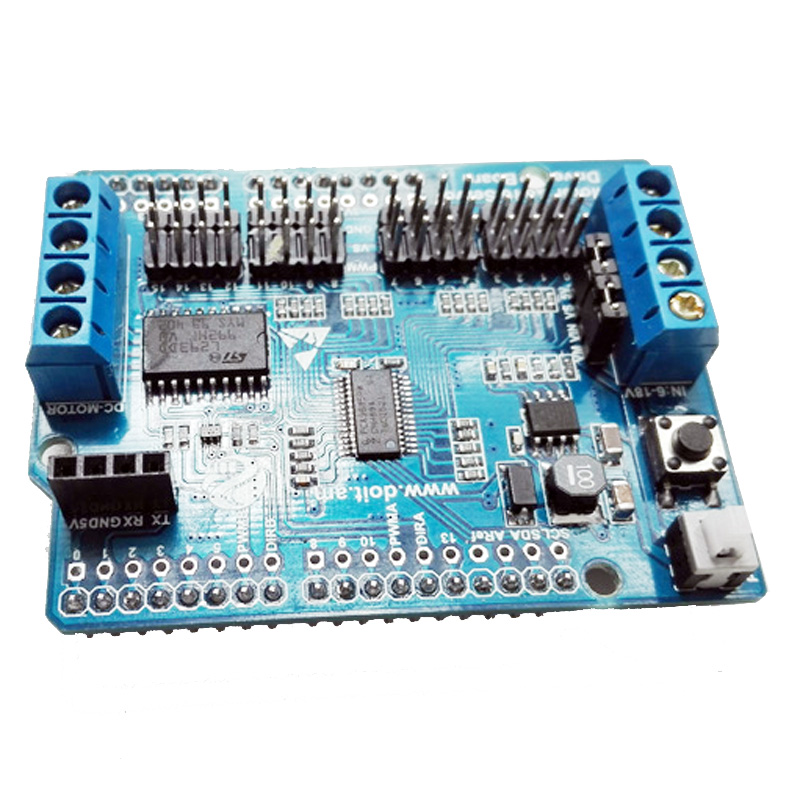 2-Way Motor  & 16-Way Servo Shield Board Compatible with Arduino for Mobile Robot Arm