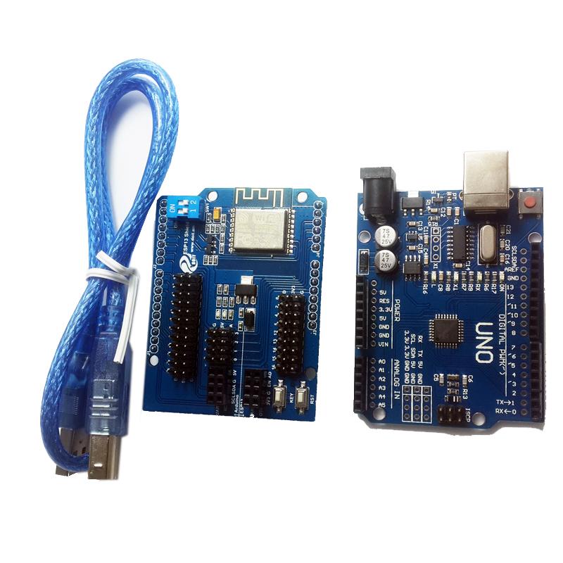 Arduino UNO R3 + ESP8266 Wireless WiFi Shield