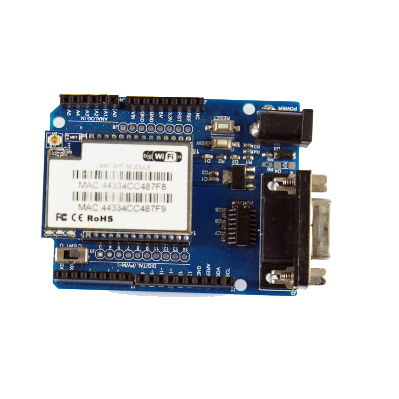 Arduino Cduino Uart To Wifi Module Hlk-Rm04 Rm04 Shield Extension Board Atmega 328P Uno R3 Serial Interface Directly Debugging 1 In 2