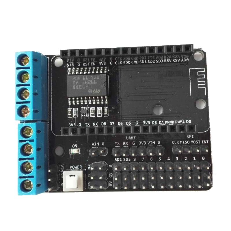 Motor Shield Board (L293DD) for NodeMCU from ESP8266 ESP-12E