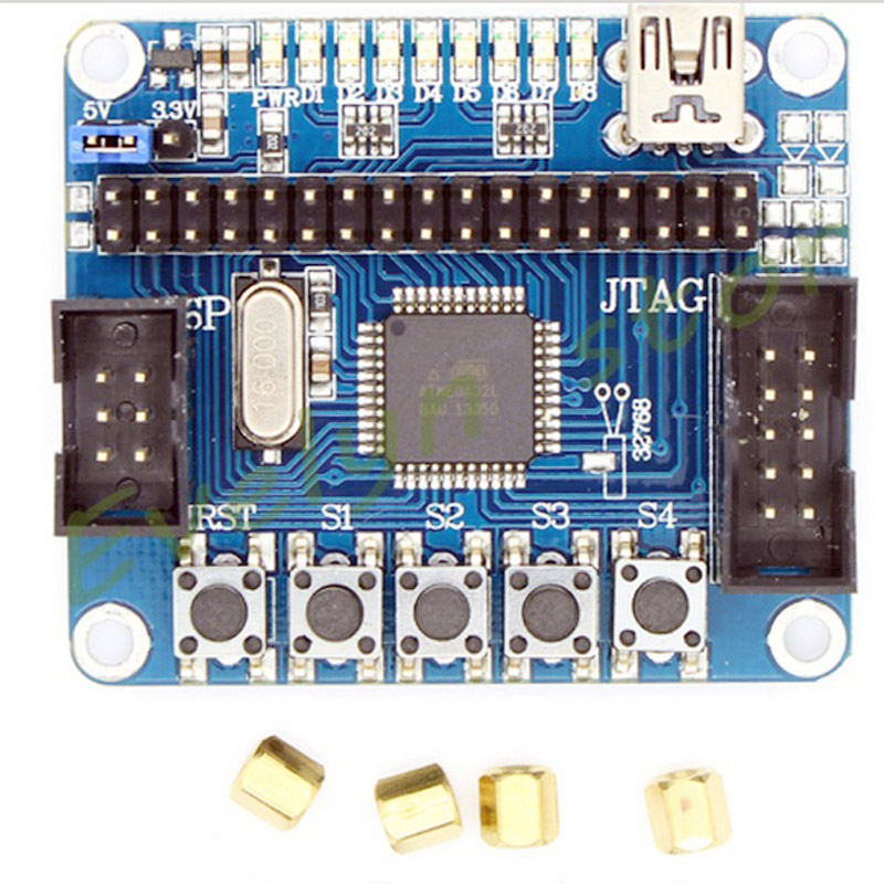 ATMEGA32 minimum system board, AVR Development Board Core Board Free Download Line USB Port