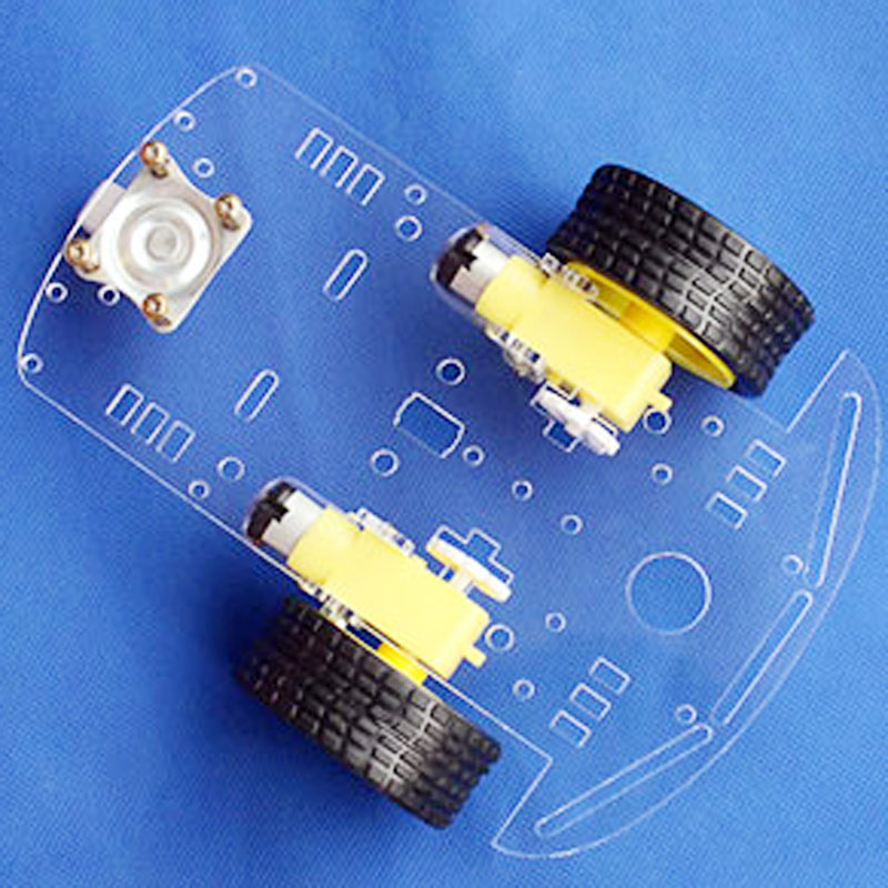 Arduino Smart Car Chassis Velocity Tracing Obstacle Avoidance Remote Control Car 2 WD V15 Competition